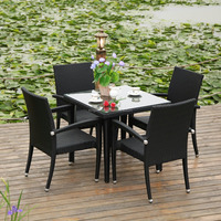Outdoor Garden Furniture Bistro Table Set Used Patio Furniture Factory Direct Wholesale