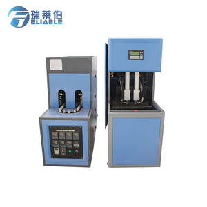 Low power semi-automatic blowing of pet plastic bottles making machines