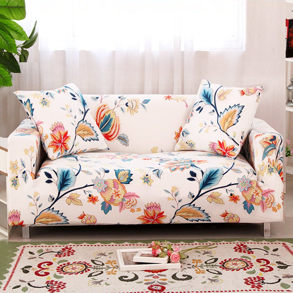 Get Quotations Forcheer Stretch Couch Covers Sofa Slipcovers Ed Loveseat Cover Seat Furniture Protector Printed 4
