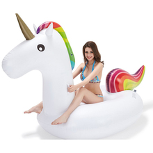 Leisure Giant Inflatable Unicorn Pool Float Large Outdoor Swimming Pool Floatie Lounge Toy for Adults & Kids