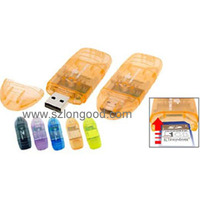 Wholesale mini multiple SD Card Reader support RS mmc,mmc card and mini sd