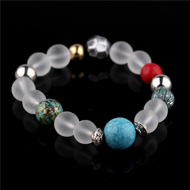 HSQ high quality crystal maitreya head charm bracelet for women