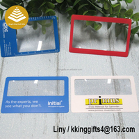 Credit card hand magnifiers glass / plastic laminating sheets / flexible clear plastic sheets for wholesale