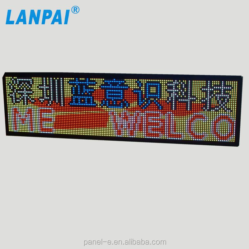 LANPAI alibaba good price P10 full color show text and video indoor programmable led sign