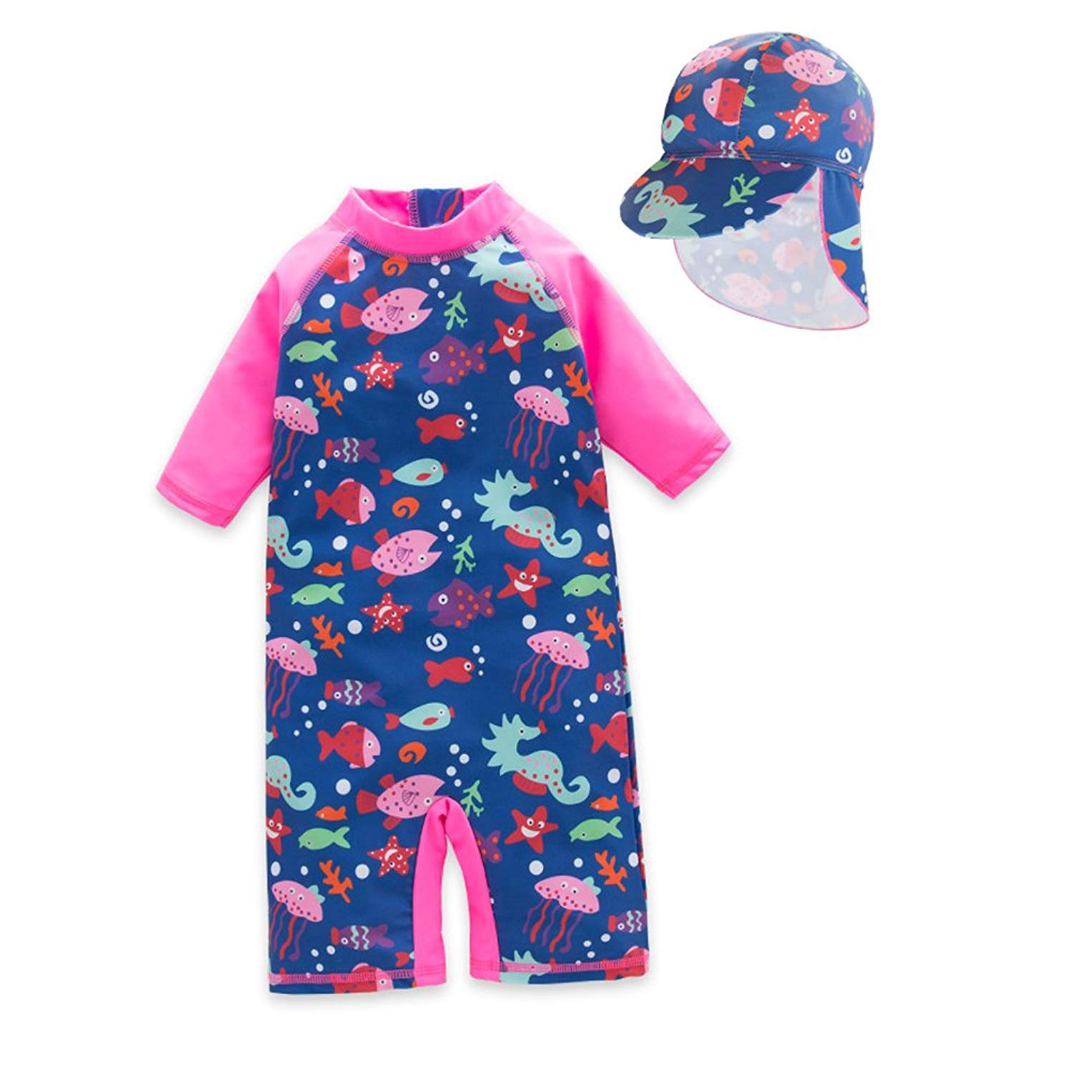 ea4cc9b2ea Get Quotations · TAIYCYXGAN Baby Little Girls One Piece Swimsuit Kids  Bathing Suit UV Sun Protective Surfing Suit UPF