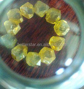 yellow HPHT CVD uncut rough industrial diamonds for sale