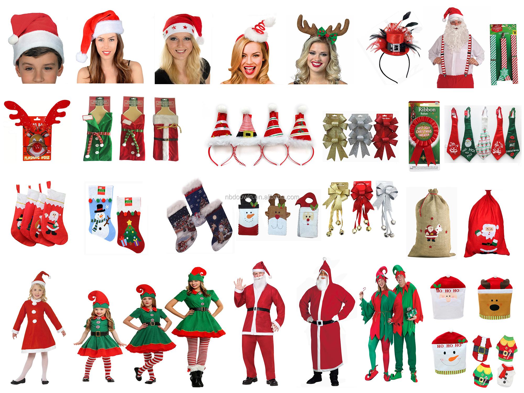 FLASHING CHRISTMAS SANTA HAT WITH LIGHT UP SANTAS