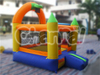 Cheap residential nylon China wholesales jumping castles inflatable water slide