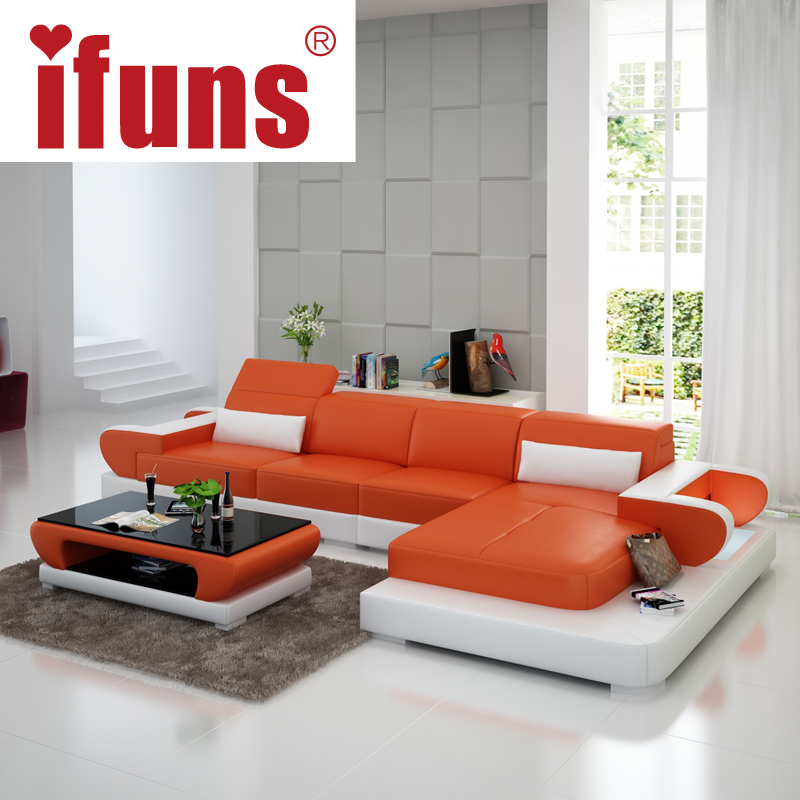 Living Room Sofa With Storage: IFUNS Moden New Design Top Garin Leather L Shaped Storage