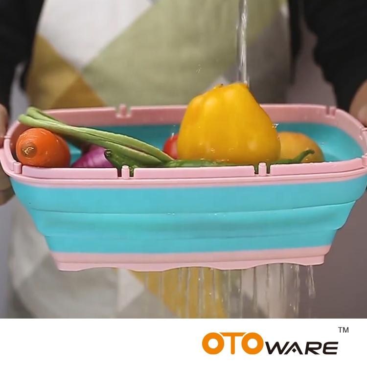 Plastik Multi Fungsi Memotong Papan dengan Persiapan Penyimpanan untuk Dapur