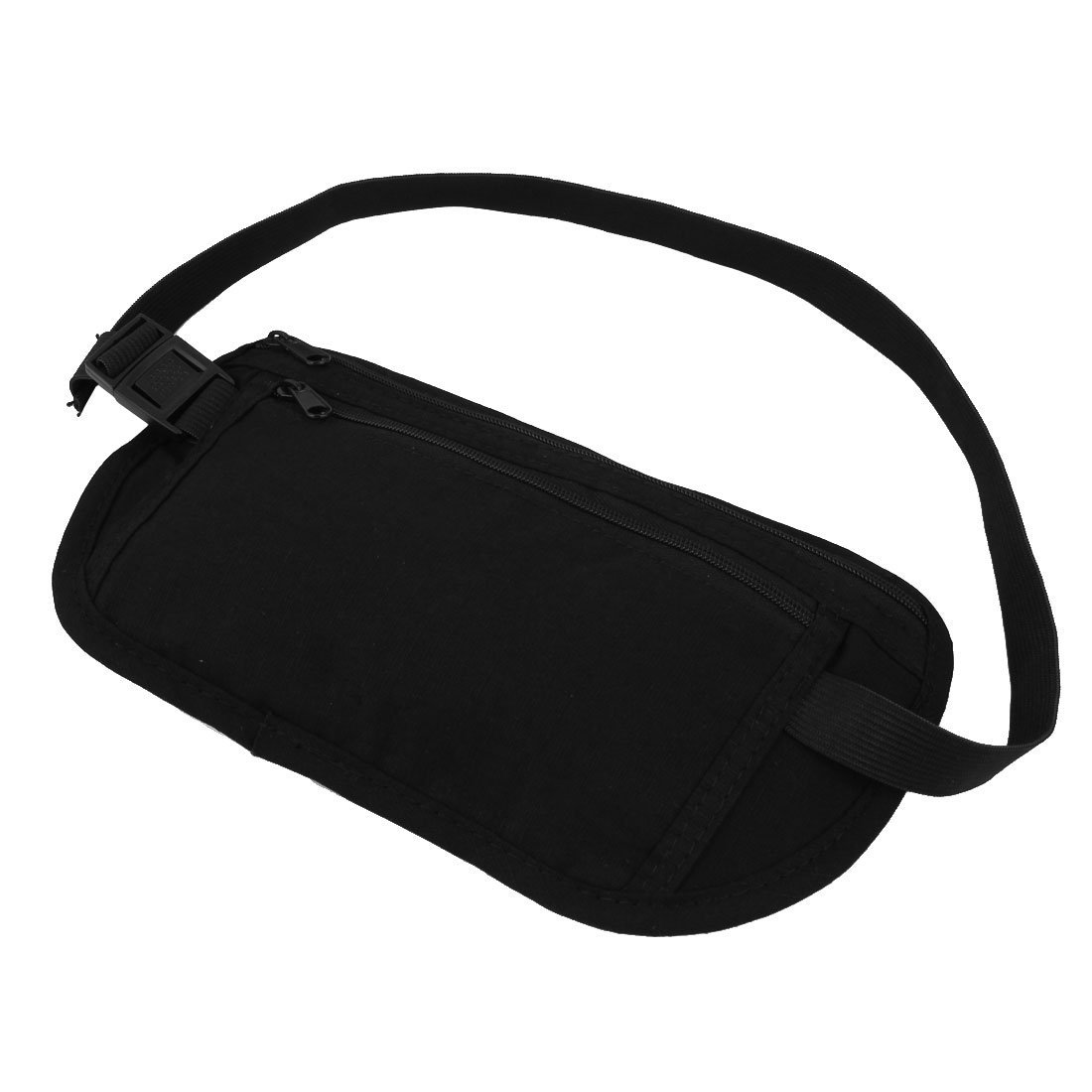 uxcell Nylon Outdoor Traveling Sports Water Resistant Hiking Backpack Waist Bag Black