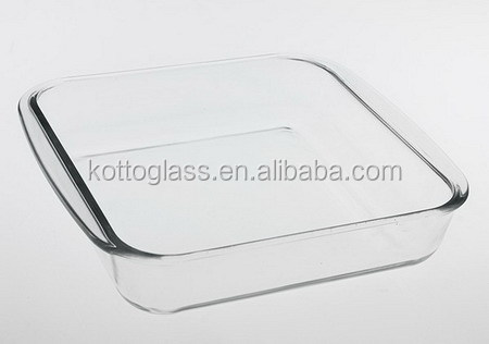 1.1L borosilicate tempered glass bakeware square shape available for oven