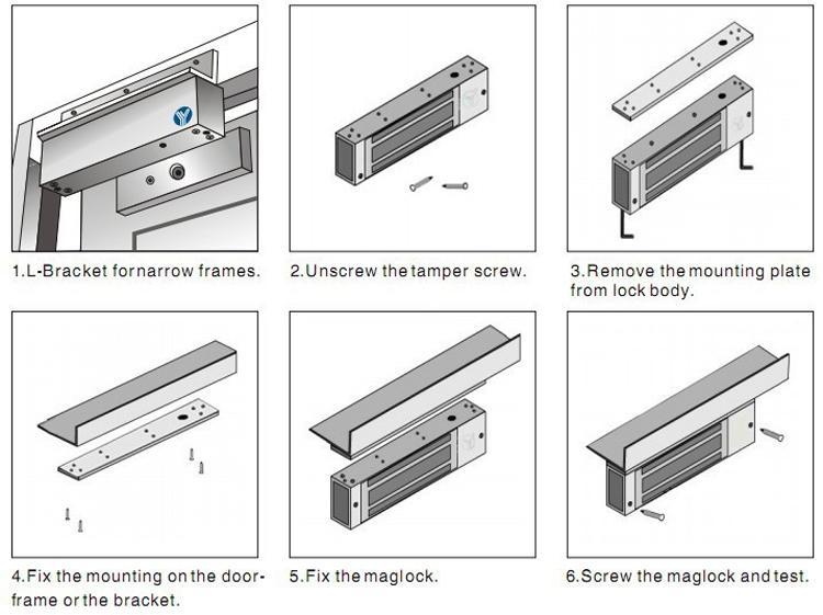 Best Price Electromagnetic 12v 24v Led Light Fail Safe