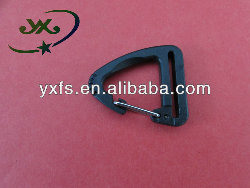 Camp Hiking Aluminum Spring Link Triangle Snap Hook Clip Hook Carabiner plastick triangle hook