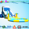 giant inflatable wave slide with pool,big water slide for kids and adult
