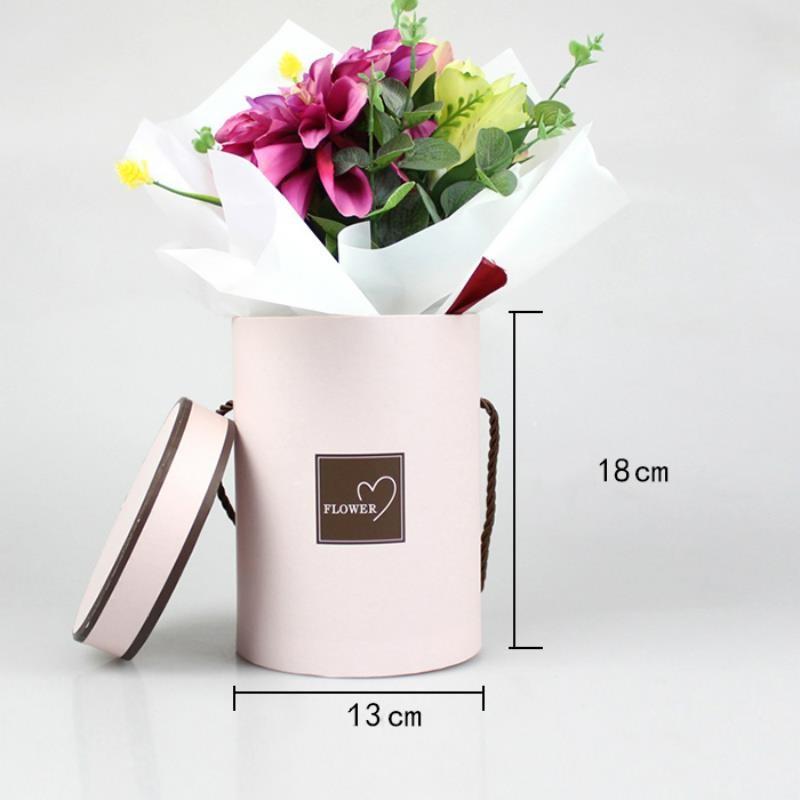 paper flower box round cardboard flower box for rose