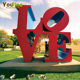Outdoor Stainless Steel LOVE Letter Sculpture