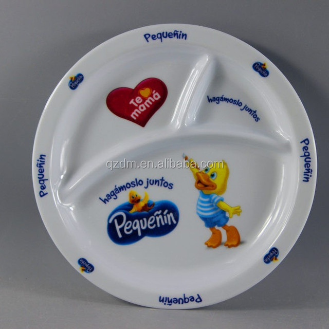 Kids Melamine Divided Dinner Plate 3 Section Round Shape & Melamine Divided Oval Dinner Plates Wholesale Plates Suppliers ...