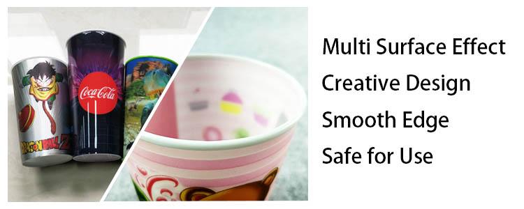 Sedex 4 Säulen Audit Hersteller Nach CMYK Gedruckt 3D Lenticular Harte PP Kunststoff Tasse