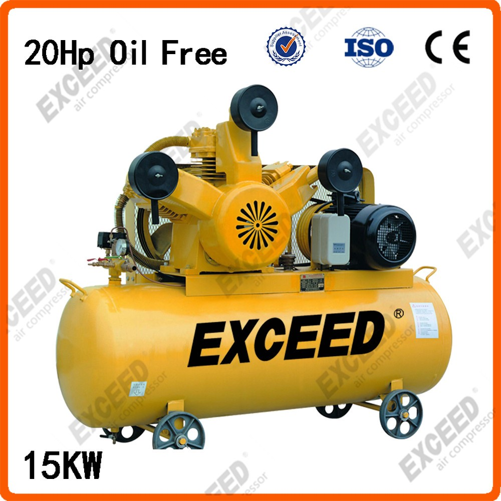 15KW oil free compressor 20HP air piston pump