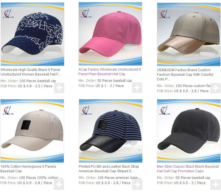 Men Style Classic Black Baseball Hat Golf Cap No Logo