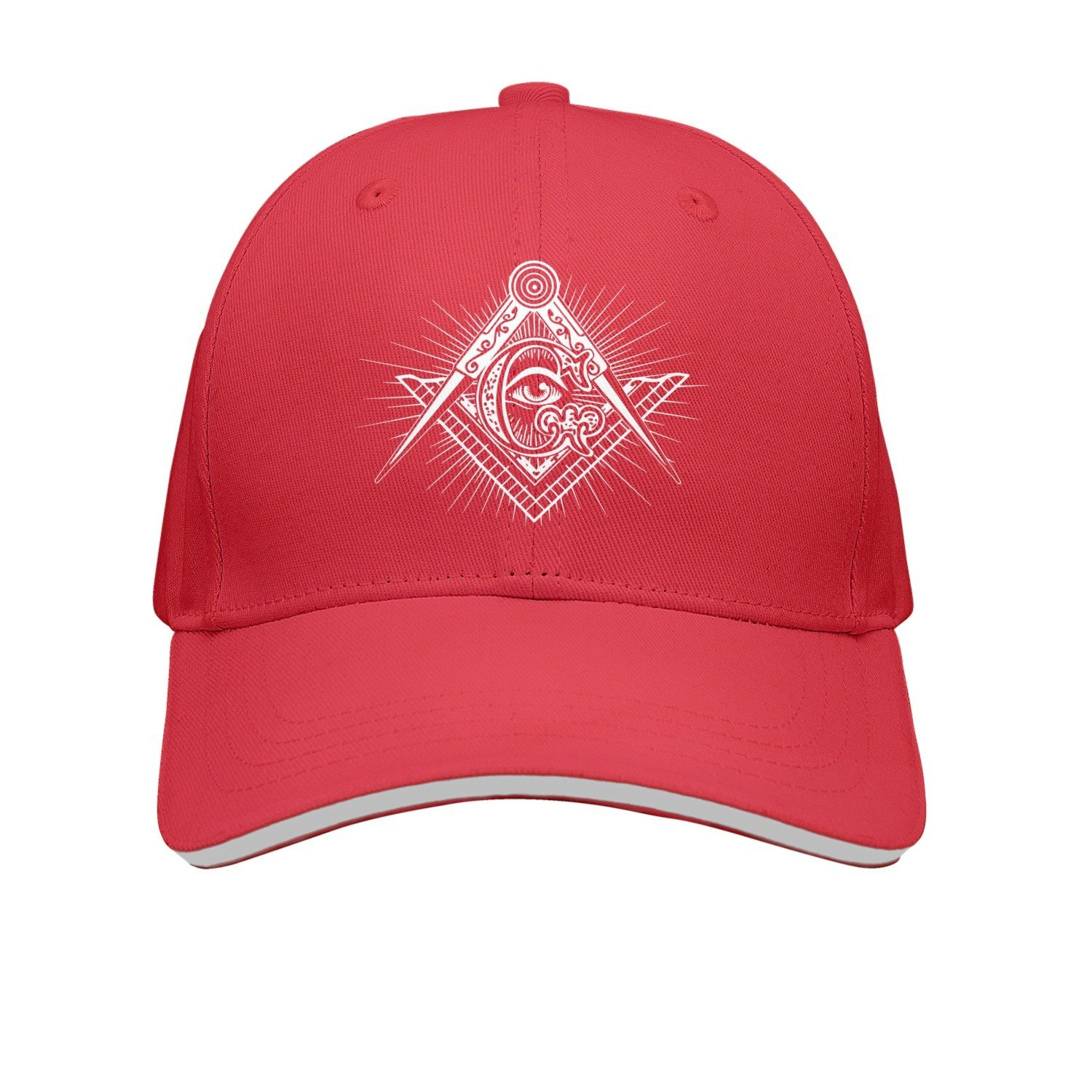 Get Quotations · SJSNBZ Freemasonry Square   Compasses Unisex Adult Mens  Breathable Golf Hats Womens Golf Hats af296b10158