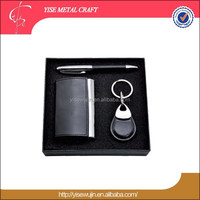 Engraved of Personality gift item idea Box Pen business card holder key chain gift sets for men corporate office business gift