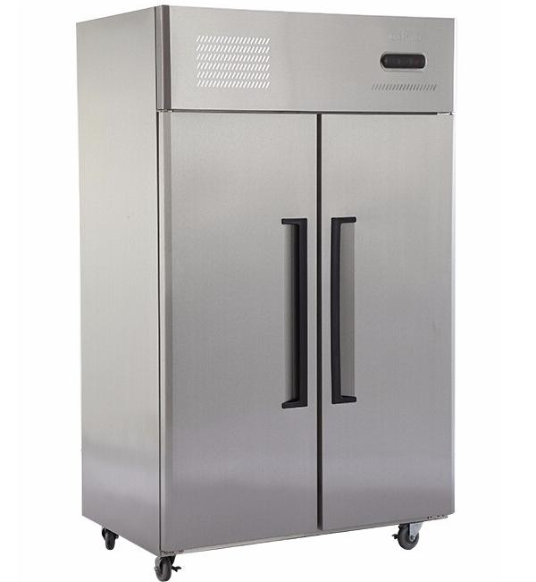 Double Door Commercial Upright Stainless Steel Refrigerator and Freezer