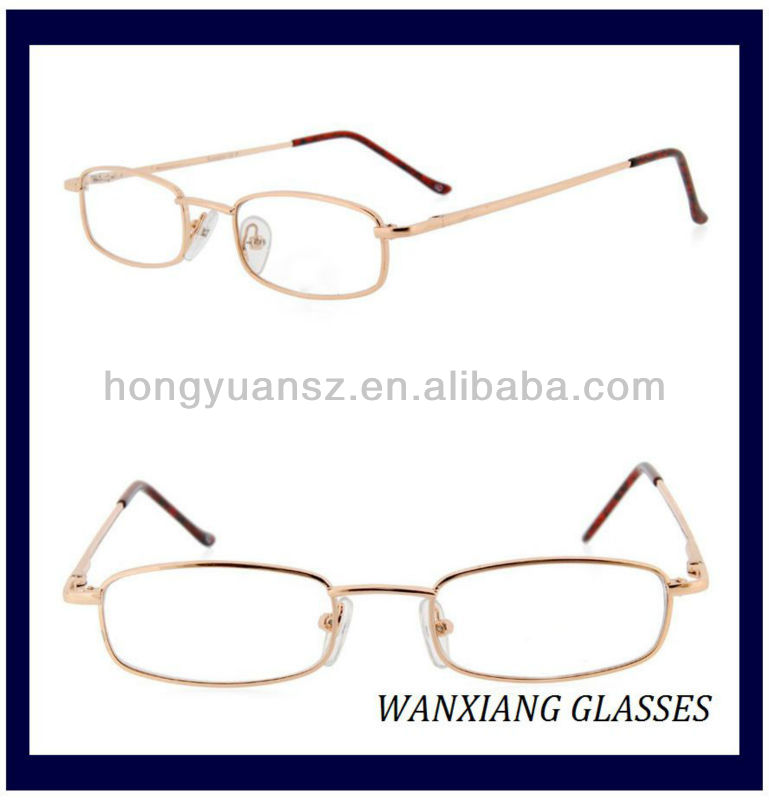 Gold Metal Glasses Frames, Gold Metal Glasses Frames Suppliers and ...