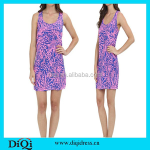 Chinese Clothing Garments Buyer in USA High Fashion Printed Women Dresses