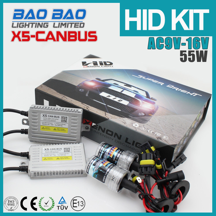 High lumen 18month lifetime warranty canbus X5 hid kit, oem d5s hid xenon bulb 55W AC 12v Super bright , BAOBAO Lighting
