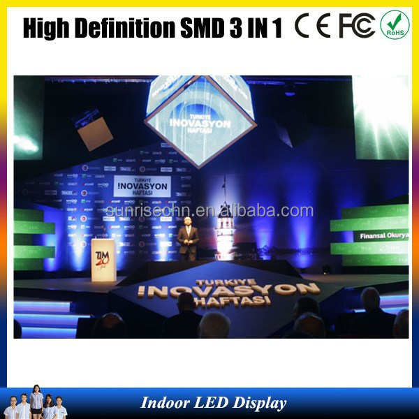 Hot Sale photo video china led display pic hd indoor SMD p4,p5,p6,p7.62,ali led indoor display full vedio in ali
