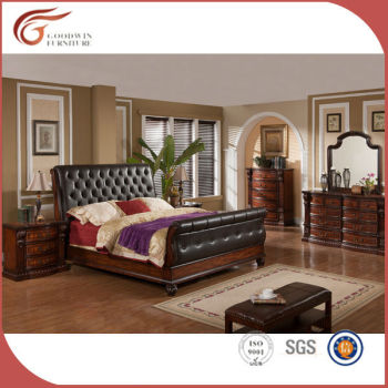 America Style Antique Bedroom Sets/luxury Royal Bedroom Furniture/ Classic  King Size Bedroom Sets