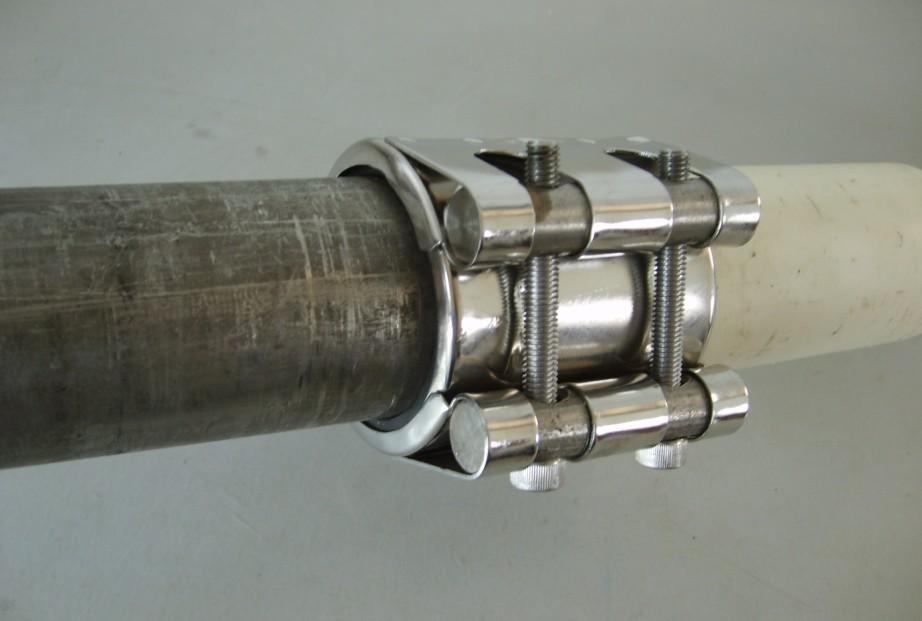 Hrc carbon steel high pressure leak repair clamp for oil