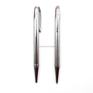 Wholesale Customized Logo Test Good Oily Ink Pen Chrome Color metal ball pens