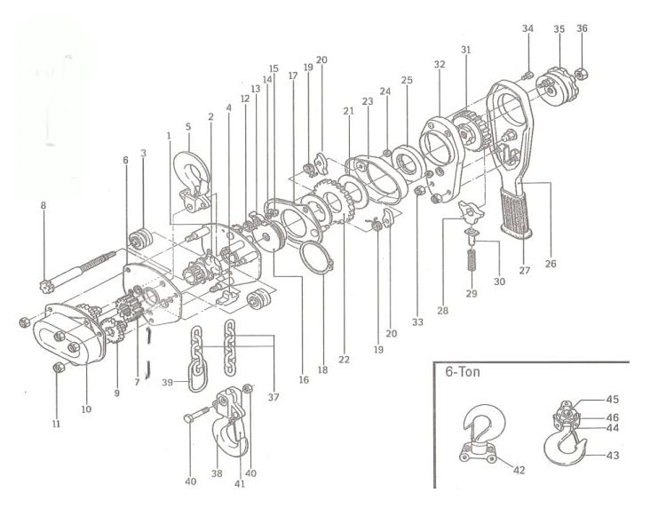 Va Type Manual 0 75ton Hoists Lever Hoist Lever Block