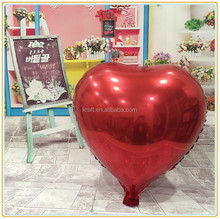 heart shape Aluminium Foil Balloons for Valentine's Day Wedding Decoration 24 inch Heart-Shaped balloon