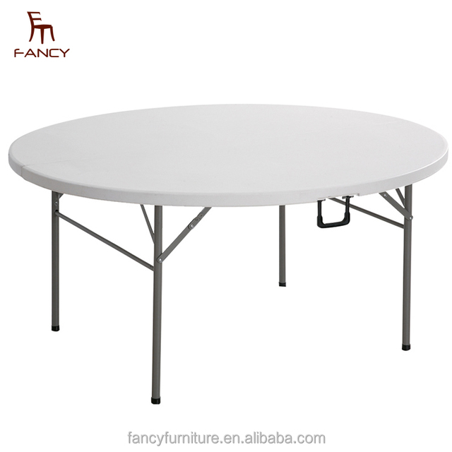 Hot Selling Half Round HDPE Folding Plastic Table For Banquet And Party