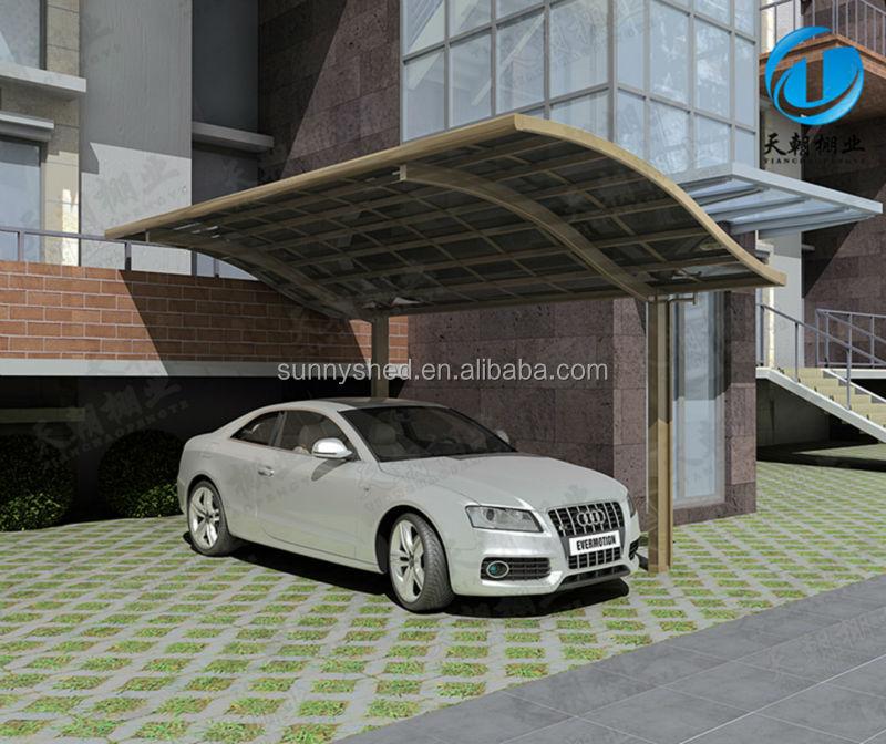 Posto auto coperto singolo con telaio in alluminio e for Piani garage separati con posto auto coperto