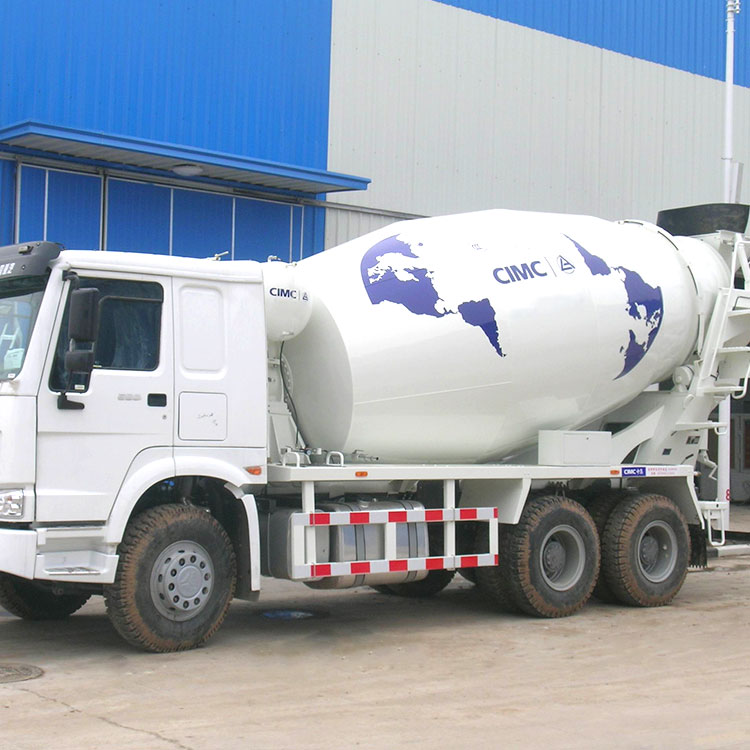 A cement mixer Self matching chassis agitator tank Tank of concrete mixing truck