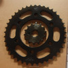 OEM quality motorcycle chain wheel/ sprocket/pinion kit FZ-16