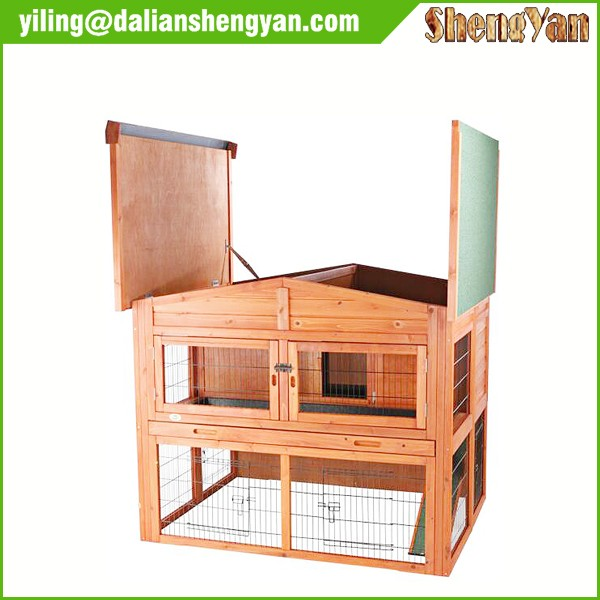 Extra large outdoor wooden rabbit cages with pull out for Extra large rabbit cage