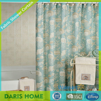 Unique Fancy Printed Blue Fish Ocean Patterns Commercial Printed Polyester Shower Curtain Buy