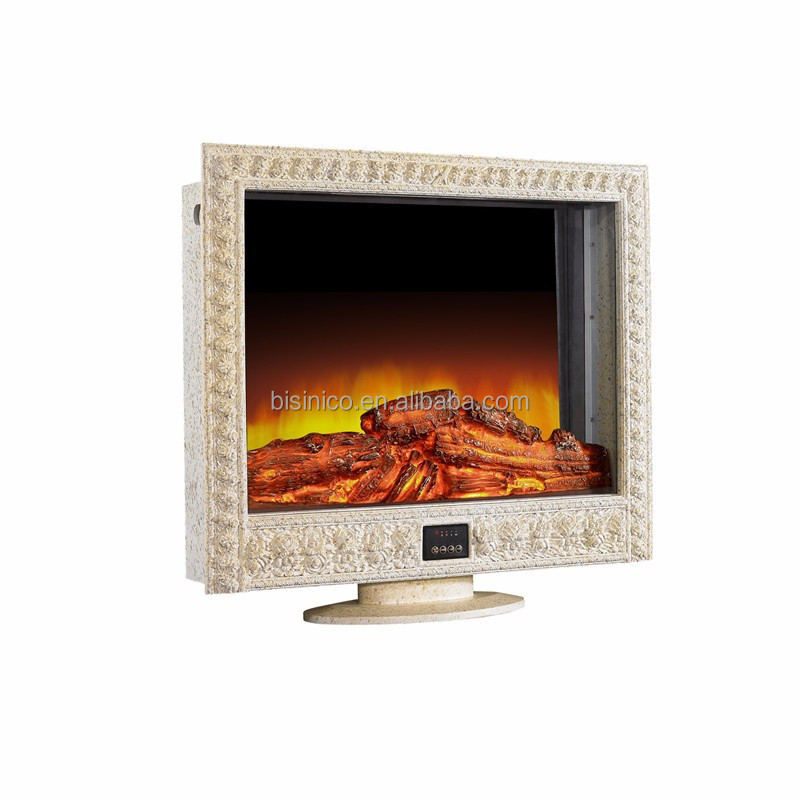 New Arrival Carving Frame Electric Decorative TV Stand Fireplace Heater, Luxury Bisini Brand New Fireplace Insertion Heater