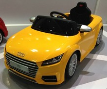 Yellow color 12v battery kids cars licensed kids ride on Audi car for sale
