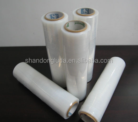 Luda 100% new material transparent LLDPE plastic stretch wrapping film