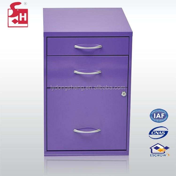 Color puissance rev tement en acier tiroir cabinet avec Meuble avec plusieurs tiroirs