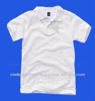 KIDS WHITE PLAIN POLO T-SHIRT