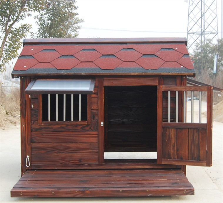 Outdoor large solid wooden dog kennel buy cheap dog for Cheap dog kennels for large dogs