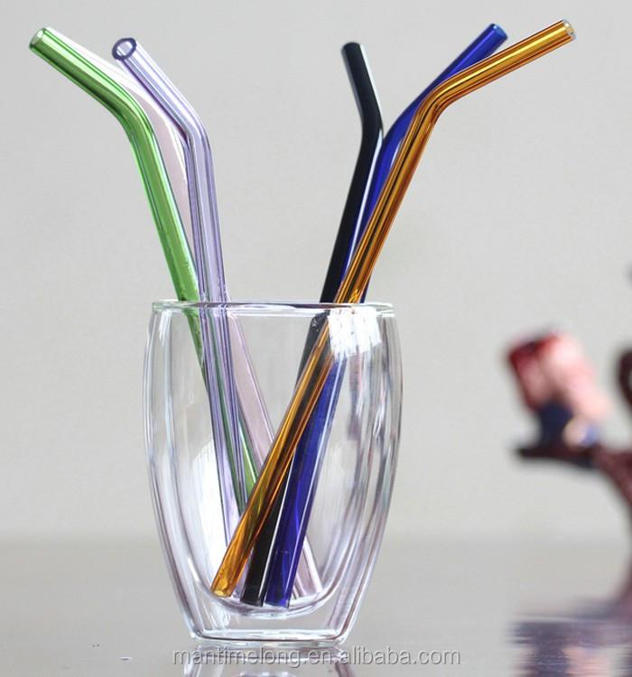 Creatieve hittebestendig glas pipet arts stro kleur for Hittebestendig glas